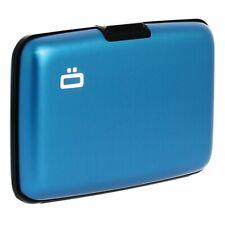 Ögon Stockholm Aluminium Wallet Card Holder RFID Protection Blue New