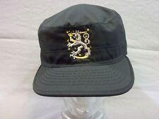 Feldmütze Fieldcap Cap BDU, schwarz mit Stickerei Wappen Löwe Finnland Grösse XL