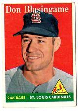 1958 Topps Set Break #199 Don Blasingame Cardinals âš¾ Mysc