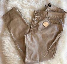 NEW Silent Disco CELEBRITY PINK Stud Metallic Jeans Khaki Silver Skinny Shiny 22