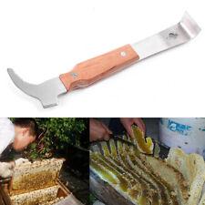 Wooden Handle Bee Hive Hook Scraper Stainless Steel Beekeeping Knife Equipment