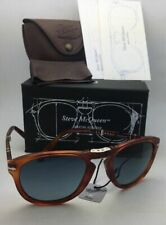 Steve McQueen PERSOL Folding Sunglasses 714-SM 96/S3 54-21 Havana+Blue Polarized