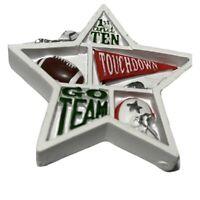 FootballSports Christmas Tree Ornament Star Shape Shadow Box Helmet Touchdown