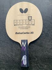 Butterfly Balsa Carbo X5 Table Tennis Blade, Tenergy, Dignics DM