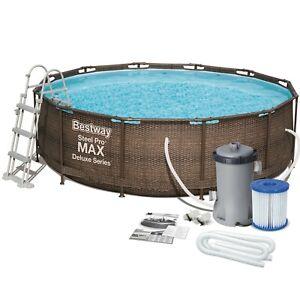 Schwimmbecken 366x100cm Schwimmbad Swimming Frame Pool Gartenpool Bestway 56709
