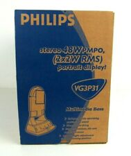 New Sealed Philips Multimedia Base VG3P31 speakers PC  180P2, 170B2, 170S2 LCD