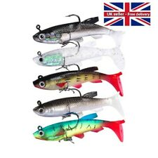 5 Soft Jelly Rubber Weighted Fishing Lure Paddle Tail Soft Lure Perch Pike