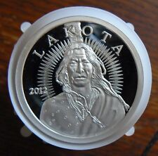 1oz. *2012* LAKOTA .999 FINE PROOF SILVER~CRAZY HORSE~BUFFALO~Round Coin