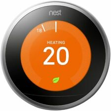 Nest T3010GB Learning Thermostat 3rd Generation/Stainless Steel