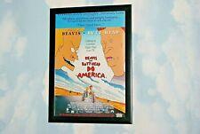BEAVIS & BUTTHEAD Framed A4 1996 `do America`film original cinema promo poster