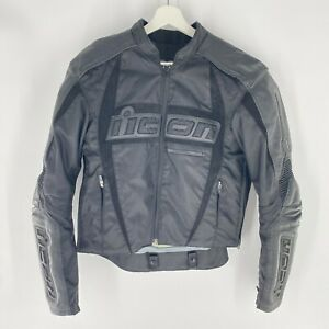 Icon ARC Performance Series Motorcycle Biker Jacket Leather Textile Mens Sz S