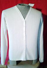 New Women's Erik Spencer Ivory Off White Cardigan Sweater Size XL