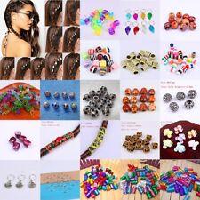 10X Anillo De Perlas De Cabello Trenza de Cabello Rastas Puño Clip Accesorios Para El Cabello tibetano Zb