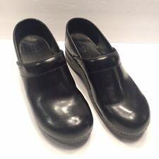 Size 46 Sanita Stapled Professional Clogs Black Leather