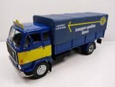 VOLVO F88 Truck Pritsche mit Plane blau gelb LKW Camion IXO Altaya 1:43