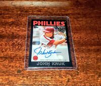 JOHN KRUK AUTO SP 32/199 2021 TOPPS BLACK PARALLEL #86A-JKR AUTOGRAPH PHILLIES!