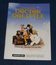 THEATRE ROYAL NORWICH - DOCTOR DOLITTLE 3RD - 21ST JULY 2001