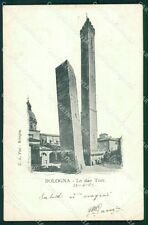 Bologna città le due torri postcard cartolina KF3372