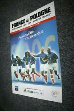 Programme Officiel )) FRANCE V POLOGNE POLAND 2004 ....