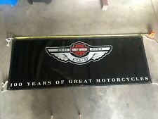 Harley Davidson 100 Years Of Great Motorcycles Anniversary Banner
