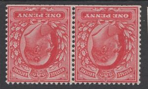 Pair of GB KEVII 1d Red One Penny Edward VII Mint Hinged - Inverted Watermark