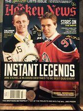Jack Eichel/Connor Mcdavid The Hockey News Magazine First Dual Issue!!