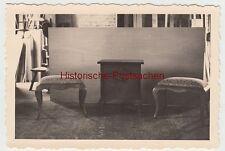 (F9267) Orig. Foto Tischlerei, Möbel von Dr. Kipner, Düsseldorf, Hocker und Schr