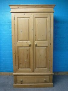 DOVETAILED TALL CHUNKY RUSTIC SOLID WOOD 2DOOR WARDROBE DRAWER 199x106- see shop