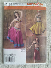 Simplicity 2158 Belly Dancing Costumes Sewing Pattern Adult Sizes 6-12 Uncut