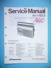 MANUAL DE Manual de servicio para Panasonic rx-1750ls, original