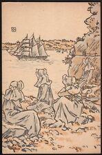 George Auriol. Carte de Joyeux Noel 1921. Christmas card. Japonisme. Montmartre