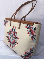 BESSIE HANDBAG Beige Shopper Shoulder Bag With Superb Embroidered Design Super Q