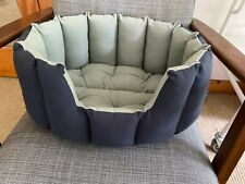 Stylish navy & light blue cushioned comfy cat or small dog bed, Considered