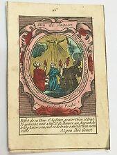 Rare image pieuse de colporteur époque XVIII ème  Don de Sagesse  holy cards