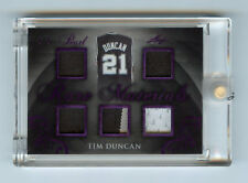 Tim Duncan 2017 Leaf Pearl Rare Materials 1/2 Purple Holo Parallel Multi Jersey