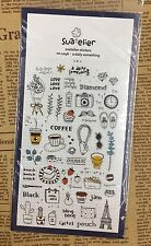 Diario algo de PVC Pegatinas Té Café París Viajes Scrapbook Cardmaking Hazlo tú mismo