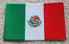 MEXICO FLAG PATCH Embroidered Badge Iron Sew on 6cm x 9cm México North America