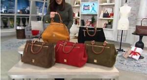 Dooney & Bourke Lush Suede w extra pockets Zip Satchel Bags  $369 TINI {&}