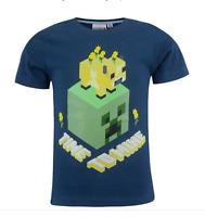 T-shirt Minecraft! bambino ragazzo Creeper Mojang Maglia Maglietta 6-8-10-12anni