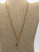 Vintage Avon Gold Tone Round Chain Twist Necklace