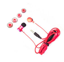 SoWnd Red/Black Earphones Earbuds Headphones Headset with 3.5mm Plug for Phones