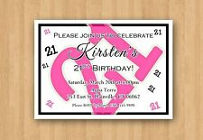 Adult or Teen Birthday Party Invitations Any COLOR 21st 30th 40th 50th 60th 70th