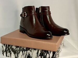 Moda In Pelle Lettia Burgundy Leather UK4/EU37 RRP £100