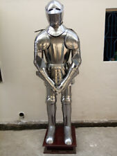 Rare Medieval Knight Suit of Templar Armor W/Tunic Combat Full Body Armour Stand