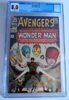AVENGERS # 9 CGC 8.0 VF 1st WONDERMAN Origin Stan Lee Kirby Silver Marvel Key