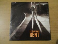 "Pet Shop Boys ‎– Rent    Vinyl 7"" Single UK 1987 Synth Pop   PARLOPHONE - R 6168"