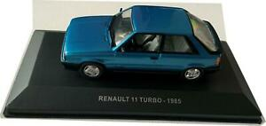 Renault 11 Turbo 1985 in metallic blue 1:43 scale model from Solido