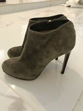 Salvatore Ferragamo Suede Ankle Booties Size 6 Military green