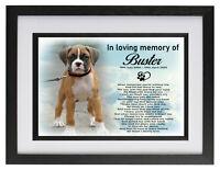 Boxer dog/pet Personalised photo frame cremation urn keepsake for ashes