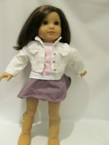"""18""""  Cloth and Vinyl Brunette American Girl Doll, Truly Me #57"""